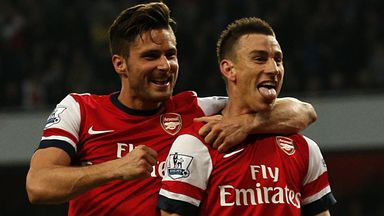 Laurent Koscielny: Arsenal defender believes the club needs to sign a striker to help the burden on team-mate Olivier Giroud