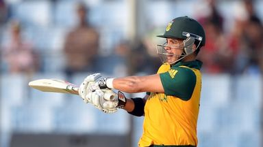 JP Duminy: South Africa batsman hit three sixes in his 52 not out
