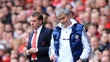 Brendan Rodgers and Jose Mourinho at Anfield on Sunday