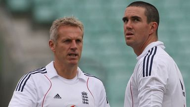 Moores and Pietersen: In happier times six years ago