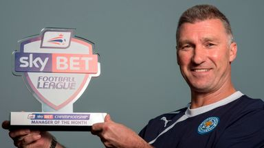 Leicester City manager Nigel Pearson named manager of the month for March