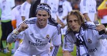 Gareth Bale: Celebrates lifting the Copa del Rey