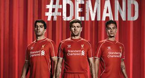 New Warrior Liverpool 2014/15 home kit