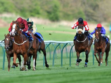 Pearl Secret (left) ridden by Jamie Spencer wins The totepool Lola Faulkner Conditions Stakes at Nottingham