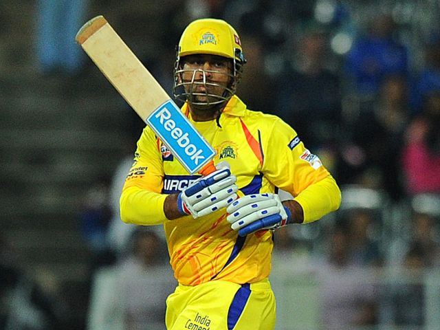 Mahendra Singh Dhoni: Smashed 49 not out to see CSK home