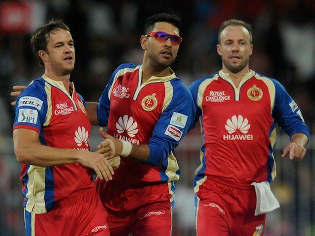 AB de Villiers (R): Scored unbeaten 45 in Bangalore Royal Challengers' victory
