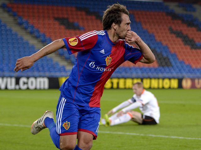 Matias Delgado celebrates his second goal