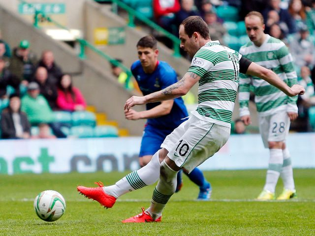 Anthony Stokes completes his hat-trick from the penalty spot
