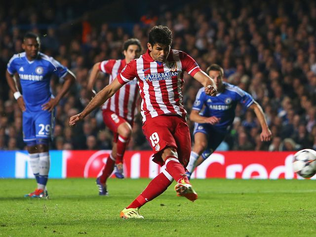 Diego Costa scores from the penalty spot