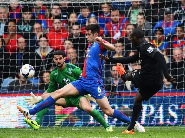 Yaya Toure scores Man City's second goal