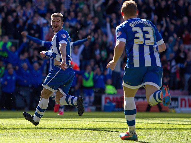 Callum McManaman: Scored a brace for Wigan