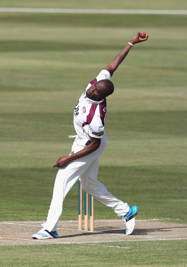 Maurice Chambers: His three wickets were crucial for Northants