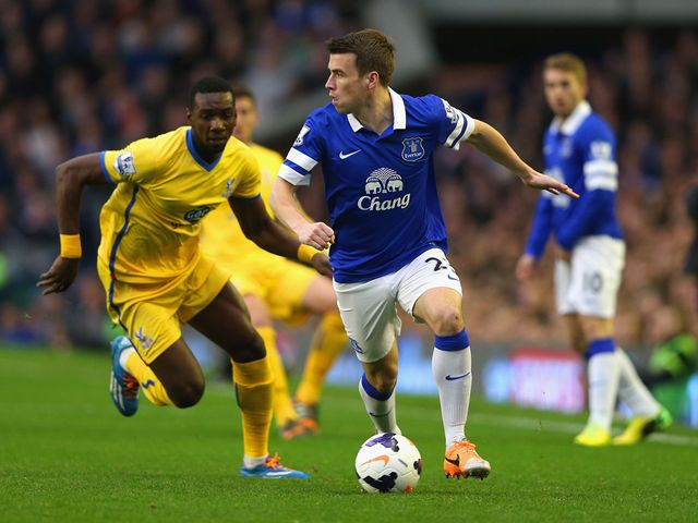 Yannick Bolasie chases down Seamus Coleman