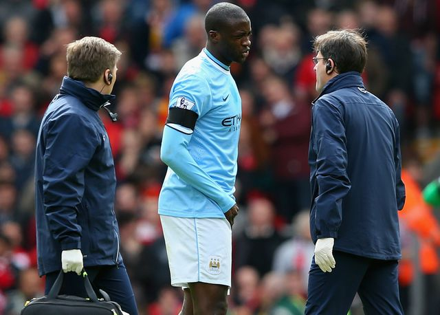 Yaya Toure: Ruled out following his injury at Anfield