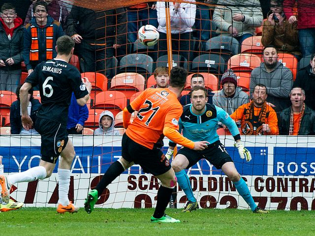 Dundee United striker Nadir Ciftci opens the scoring