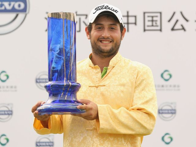 Alexander Levy with his China Open trophy