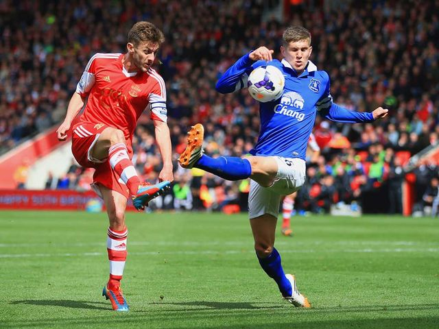 Adam Lallana in action at St Mary's Stadium