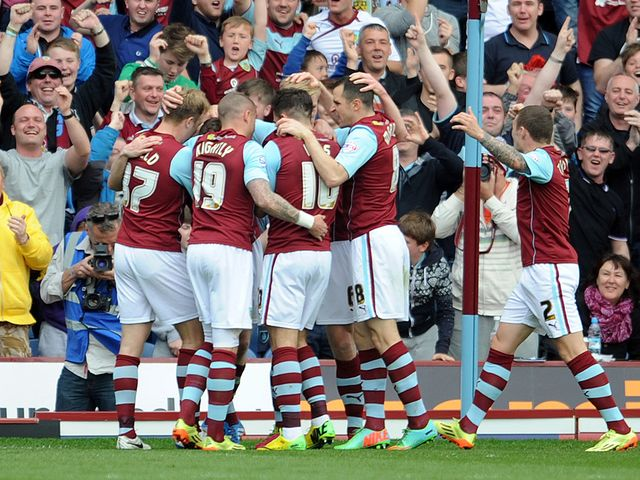 Burnley players celebrate