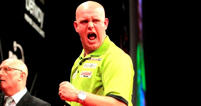 Michael van Gerwen: Was given a scare by James Wade but came through to win