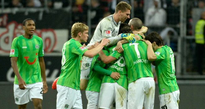 Hannover celebrate their vital victory
