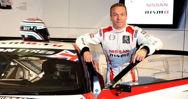 Chris Hoy: Hoping to make his mark in the British GT Championship