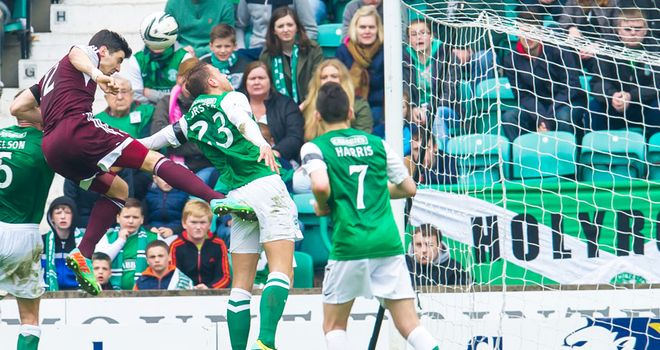 Callum Paterson: Scores his second goal for Hearts at Easter Road