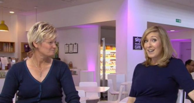 Trisha Johnson with Sportswomen presenter Vicky Gomersall