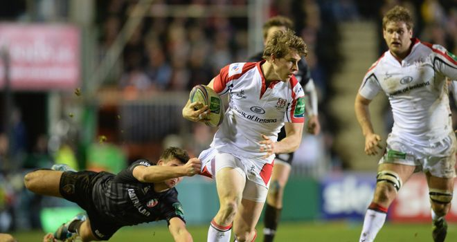 Andrew Trimble: Scored a hat-trick as Ulster thrashed Connacht