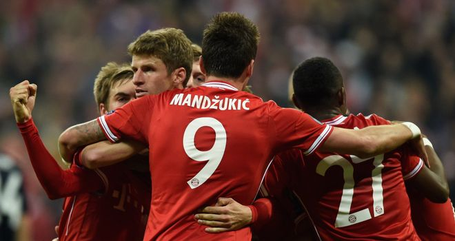 Thomas Muller: Celebrates scoring Bayern Munich's second goal