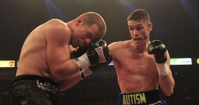 Callum Smith pressurizes an over-matched Francois Bastient (Pic Lawrence Lustig)