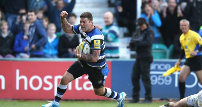 Matt Banahan: Bath's fourth try came three minutes from time