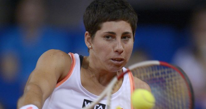 Carla Suarez Navarro: Progressed to her third straight Portugal Open final