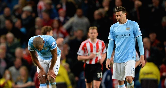 Down but not quite out as Manchester City reflect on failing to significantly close the gap on Liverpool