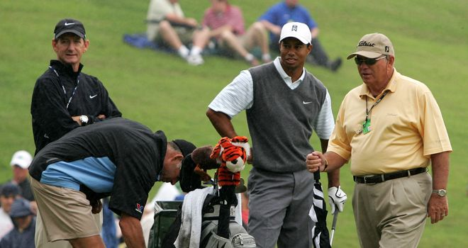 Tiger Woods and former coach Butch Harmon