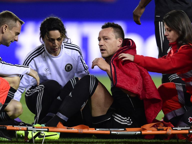 John Terry: Will miss next week's second leg