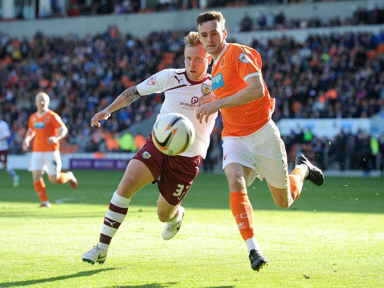 Jack Robinson in action for Blackpool