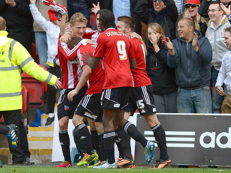 Brentford: Celebration at Griffin park