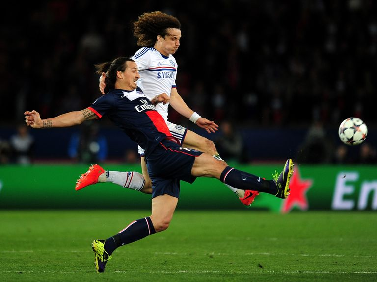 Zlatan Ibrahimovic in action for PSG against Chelsea