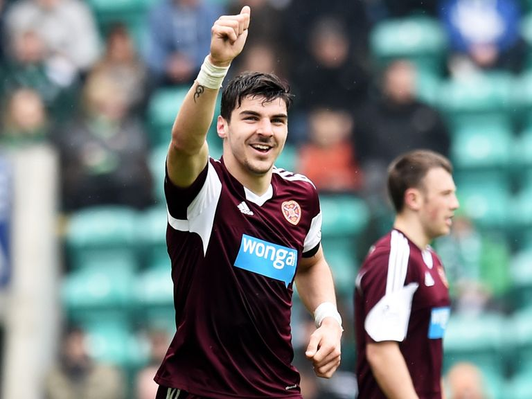 Hearts striker Callum Paterson