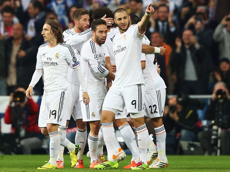 Real Madrid celebrate against Bayern Munich