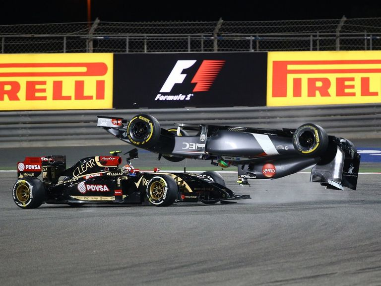 Pastor Maldonado and Esteban Gutierrez on Sunday