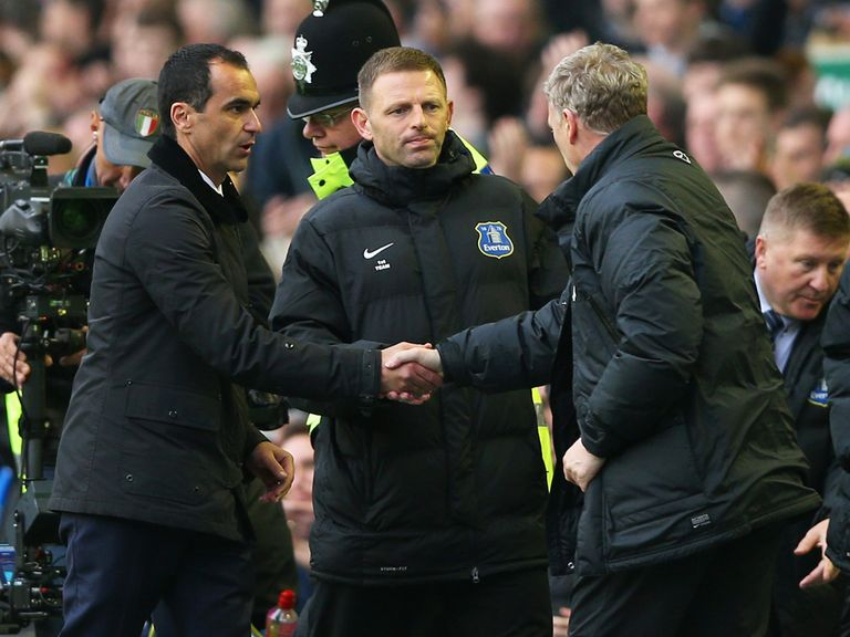 Martinez (left): Doesn't believe Moyes will be out of work for very long
