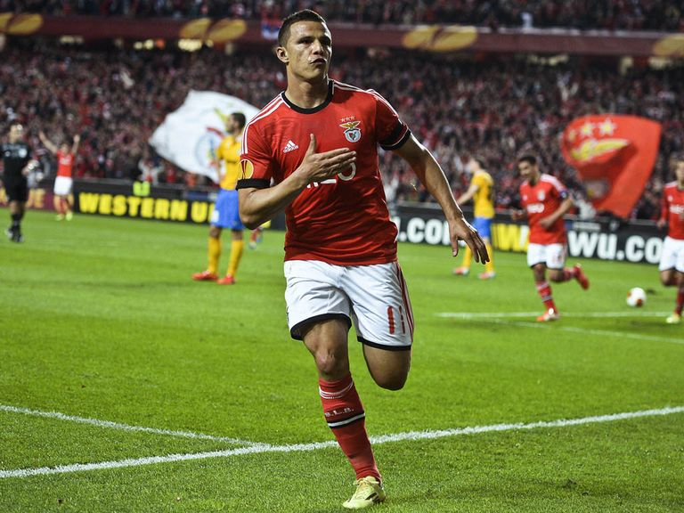 Rodrigo Lima celebrates his winner for Benfica
