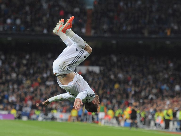 Sergio Ramos celebrates in style