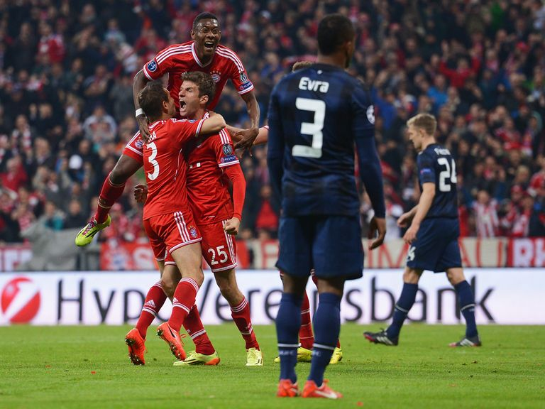 Bayern Munich knocked out Manchester United