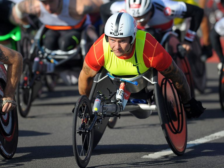 David Weir: Finished second at the London Marathon