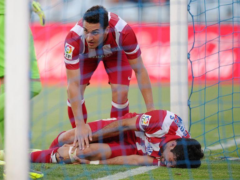 Diego Costa: Fine despite a nasty collision with the post