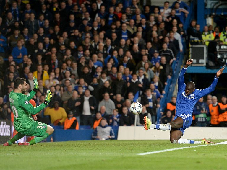 Demba Ba prodded home the vital second goal