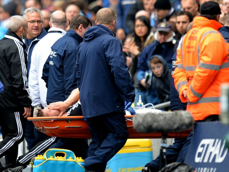 Jay Rodriguez leaves the field at the Etihad Stadium