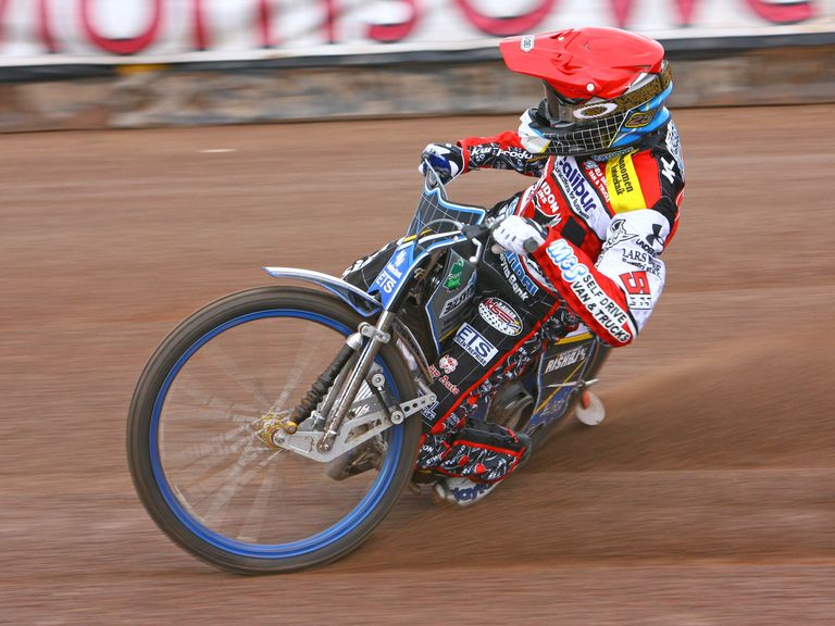 Peter Kildemand Swindon Robins speedway (picture: Les Aubrey)